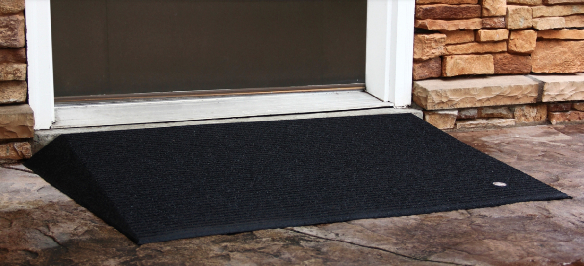 "2.5"" Tall Rubber Threshold Ramp (Box of 2)"